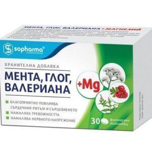Mint, Hawthorn, Valerian + Magnesium (30 tablets)