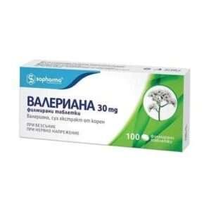 Valerian 30 mg (100 tablets)